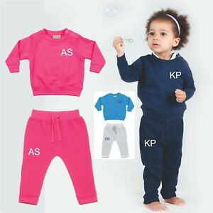 PERSONALISED-BABY-FIRST-TRACKSUIT-SWEATSHIRT-PANTS-KIDS-TODDLER-INITIALS-GIFT