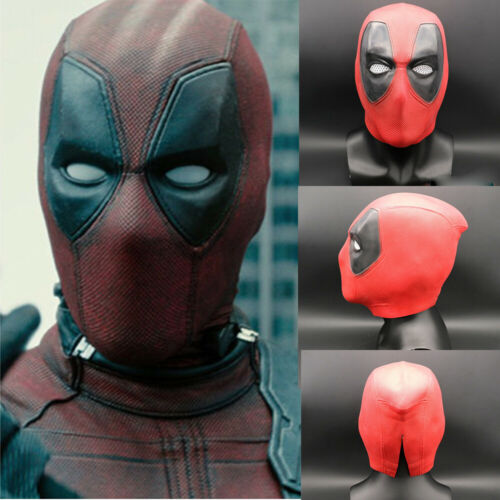 New Deadpool Mask Breathable Full Face Halloween Cosplay Prop Hood Helmet Latex