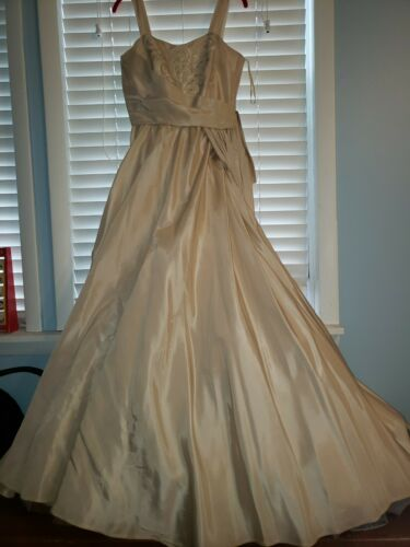 Will Steinman Vintage Evening Gown Prom Cream Colo