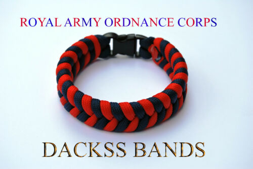 Royal Army Ordnance Corps  Paracord Wristband 10/% donation to Help For Heros