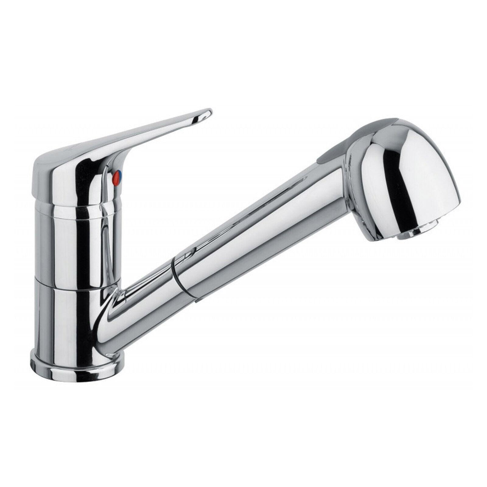 Miscelatore rubinetto monocomando con bocca estraibile per lavello cucina