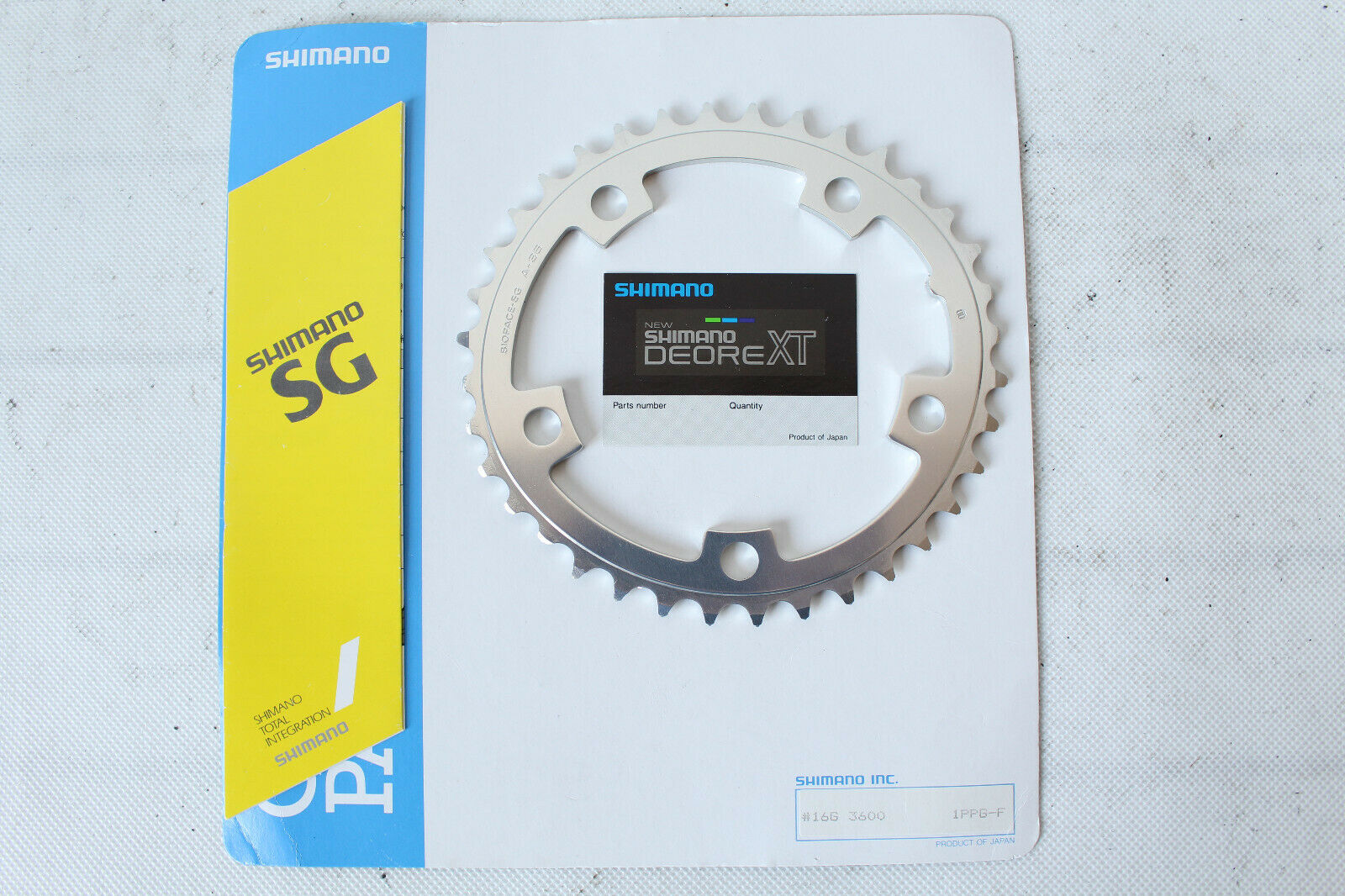 NOS vintage shiuomoo DEORE XT chainring for FCM730 36T biopace 0519