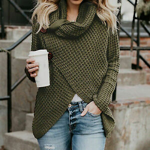 Women-039-s-Knitted-Sweater-Jumper-Cardigan-Knitwear-Outwear-Tops-green-Size-S-11
