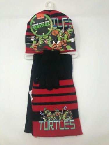 TMNT Kids 3-piece Winter Beanie Hat Scarf And Gloves Set 3-6 Years