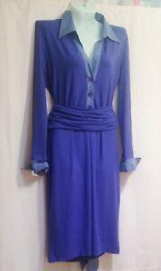 Marc-Cain-Dress-knitwear-in-lilac-color-Size-4-Wide-belt