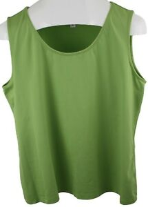 Coldwater-Creek-Ladies-Womens-Green-Sleeveless-Blouse-Tank-Top-Size-XL