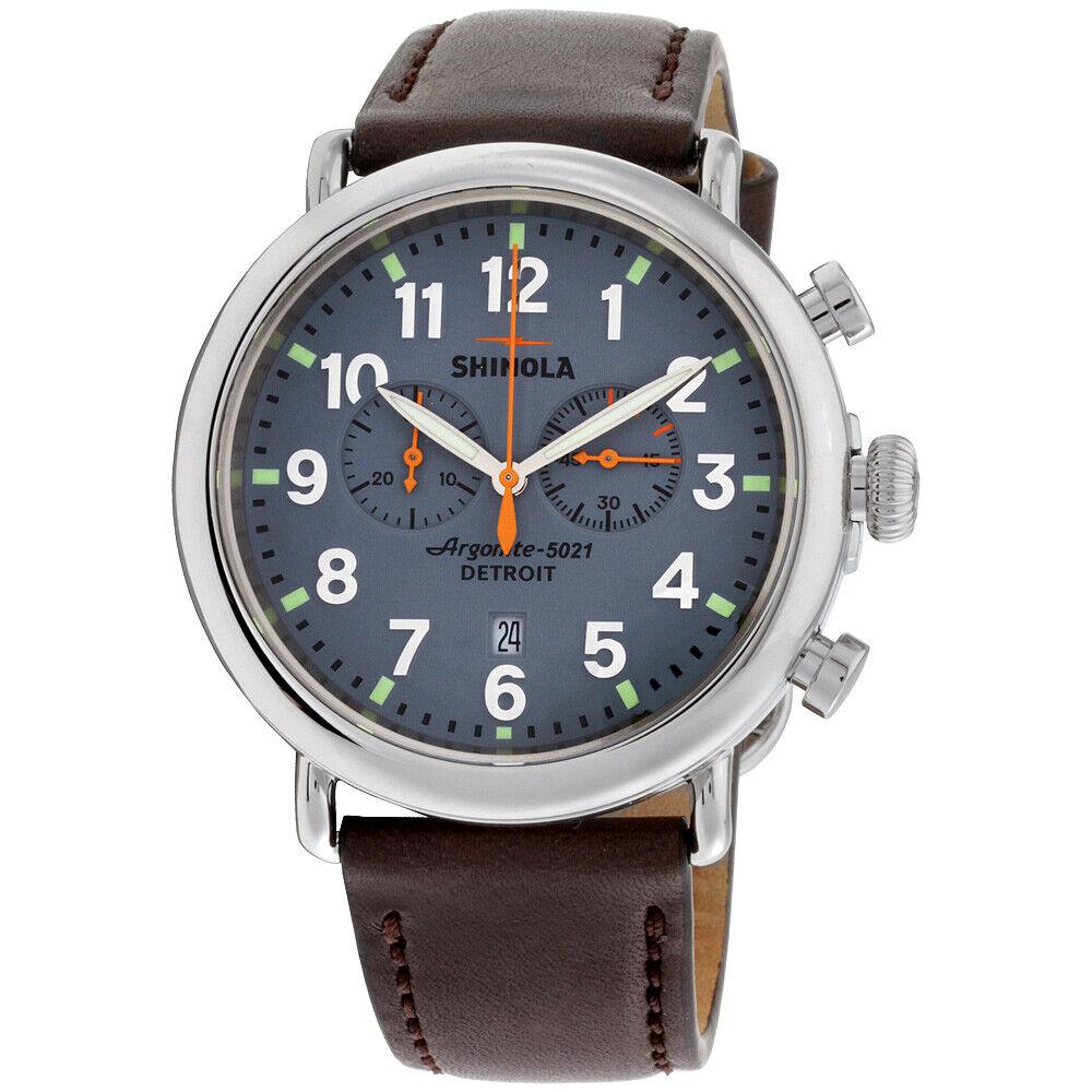 Shinola The Runwell Quartz Movement Blue Dial Men's Watch S0110000167   Ebay