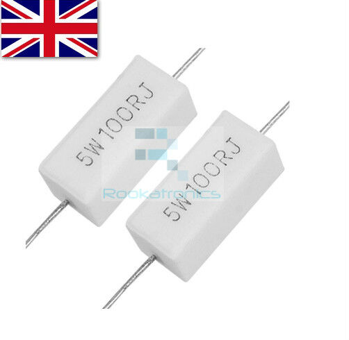 2 Pcs Ceramic Cement Power Resistor 15 ohm 30W 30W15RJ
