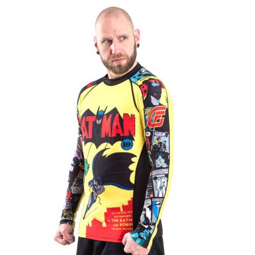 Fusion Fight Gear Batman Number 1 Comic Compression Shirt BJJ Rash Guard