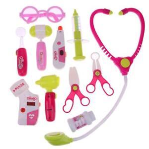 11-teile-Arztkoffer-Puppenklinik-Zubehoer-Rollenspiel-Geschenk-Arztset-Spielzeug