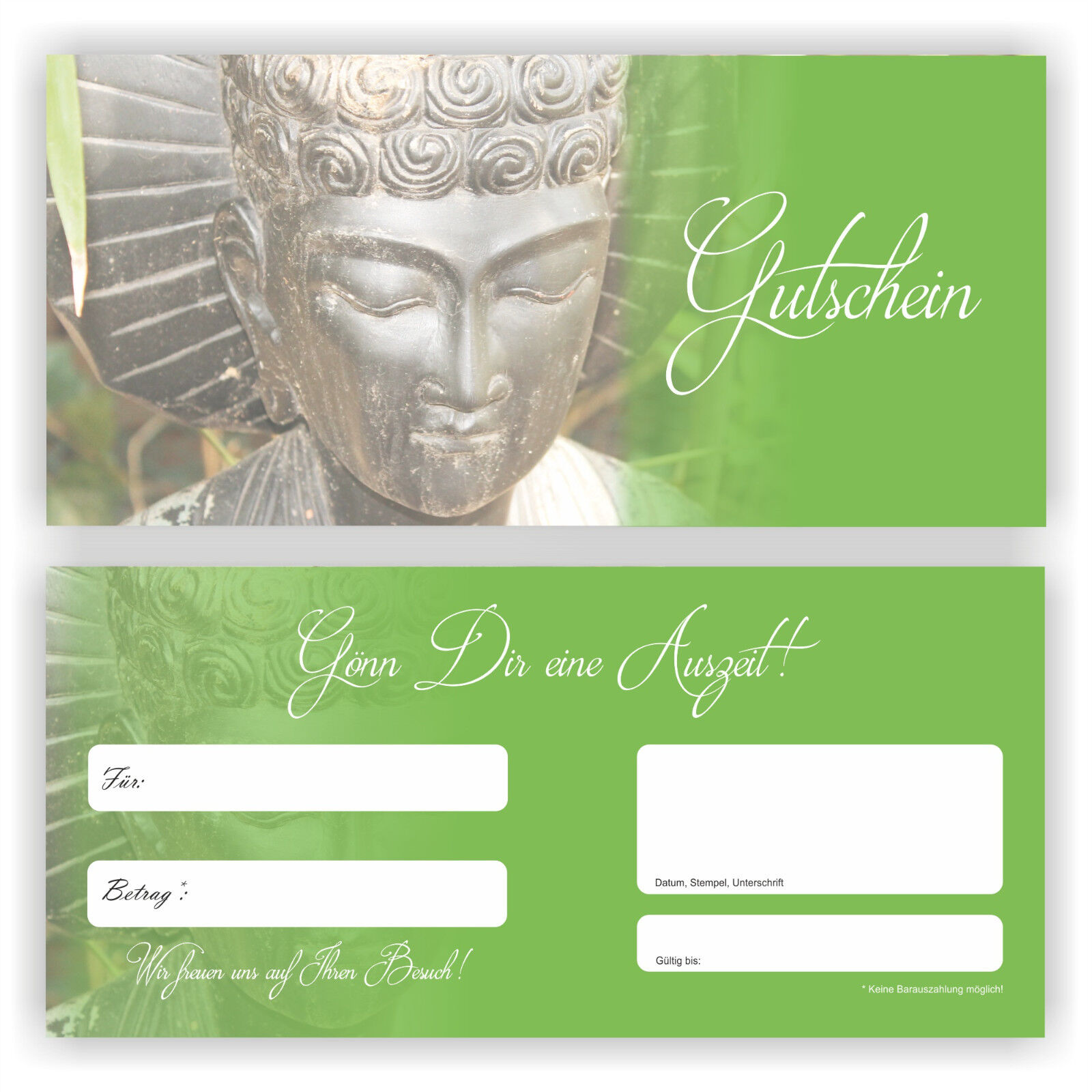 Wellness Gutschein Karte Buddha Geschenk Relax Gutscheine Geschenkgutschein GU-9  | Spielen Sie das Beste  | Haben Wir Lob Von Kunden Gewonnen