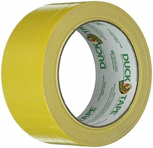 """Colored Duct Tape 1.88/"""" x 20yds Yellow 3/"""" Core"""