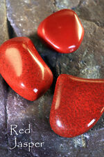 RED JASPER- Birthstone ARIES-Lucky Talisman CANCER Plus A to Z book of Stones