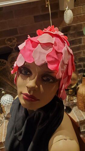 Vintage 1960s Sava Wave Swim Cap Pink over PinkDai