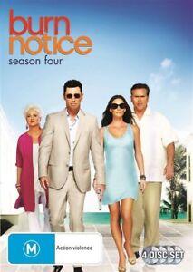 Burn-Notice-Season-4-DVD-4-Disc-Set-Series-Four-OVER-11-HOURS-Region-4