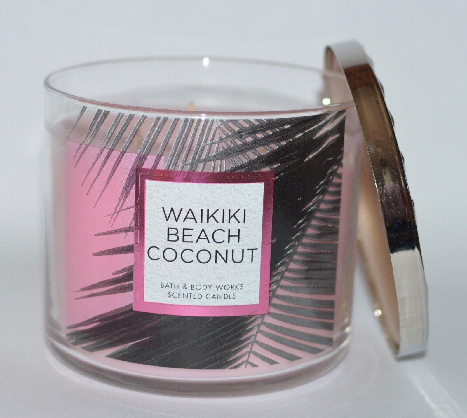 Bath Body Works Waikiki Beach Coconut Large Three Wick Jar Candle