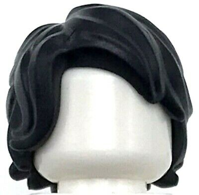 LEGO NEW WHITE SHORT HAIR WITH SIDE PART TOUSLED MINIFIGURE WIG PIECE
