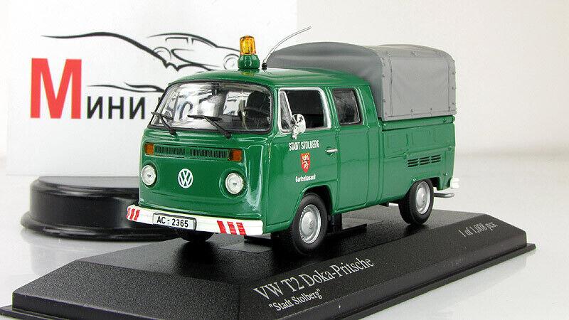 Échelle Voiture 1 43, Volkswagen T2 Pritsche Doka (1972)  Stadt Stolberg
