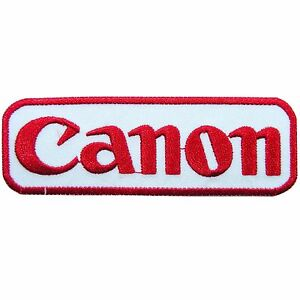 Canon camera logo digital film photography iron on patches for Camera film logo