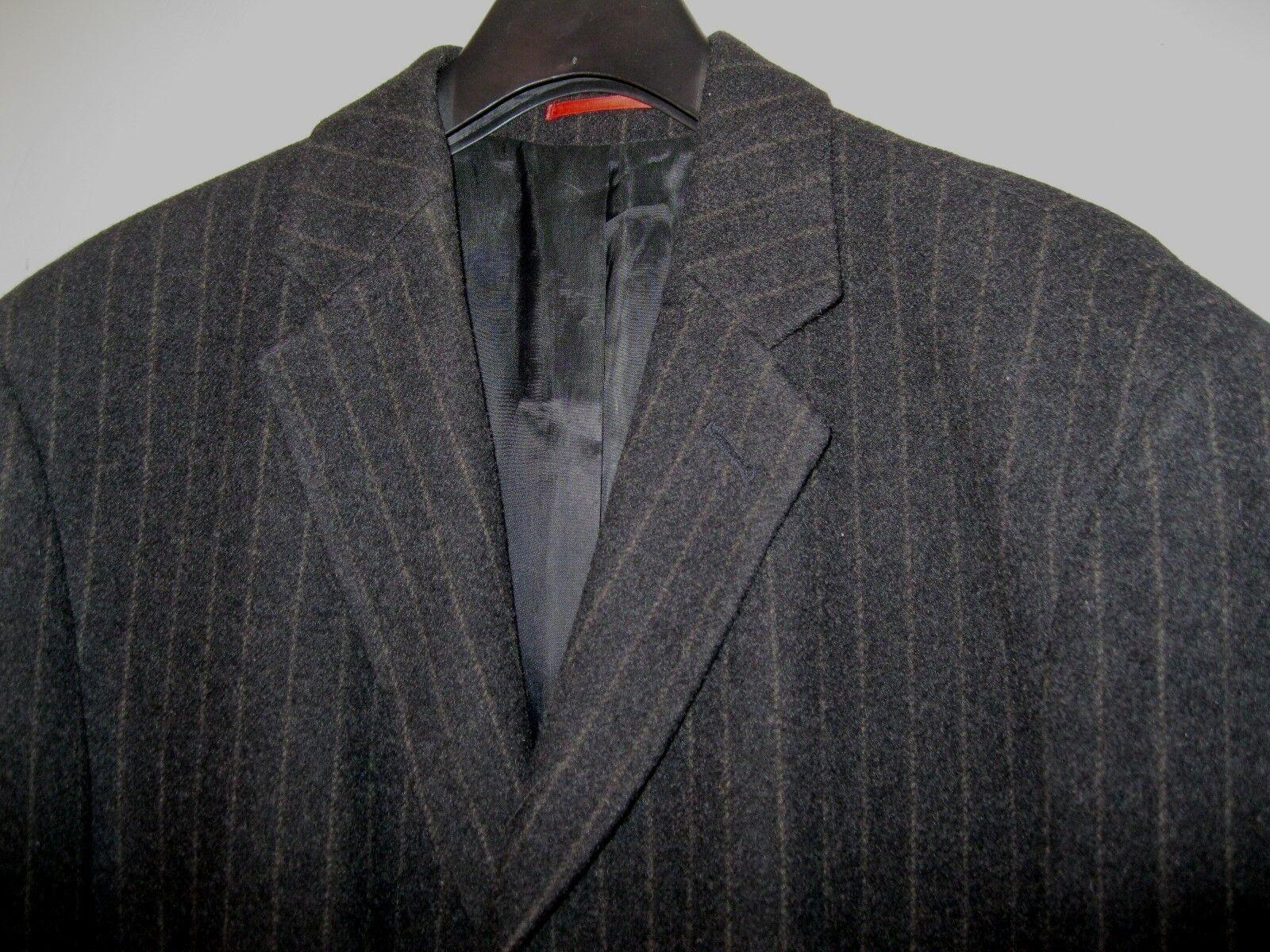 Elegante Uomo Cappotto Inverno Cappotto Uomo Lana Vergine/Cashmere Alba moda gessato tg 50 4664c0