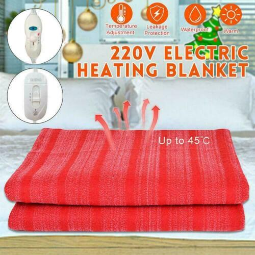 115cm 220v Electric Blanket Rapid Heating With 3 Modes Control 145cm X 65cm