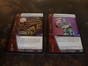 VS System Marvel Knights Rare /& Rare Foil Cards MMK Part 1//2