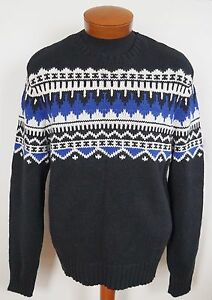Polo Ralph Lauren Nordic Print Cashmere Angora Knitted Crewneck Sweater L by Polo Ralph Lauren