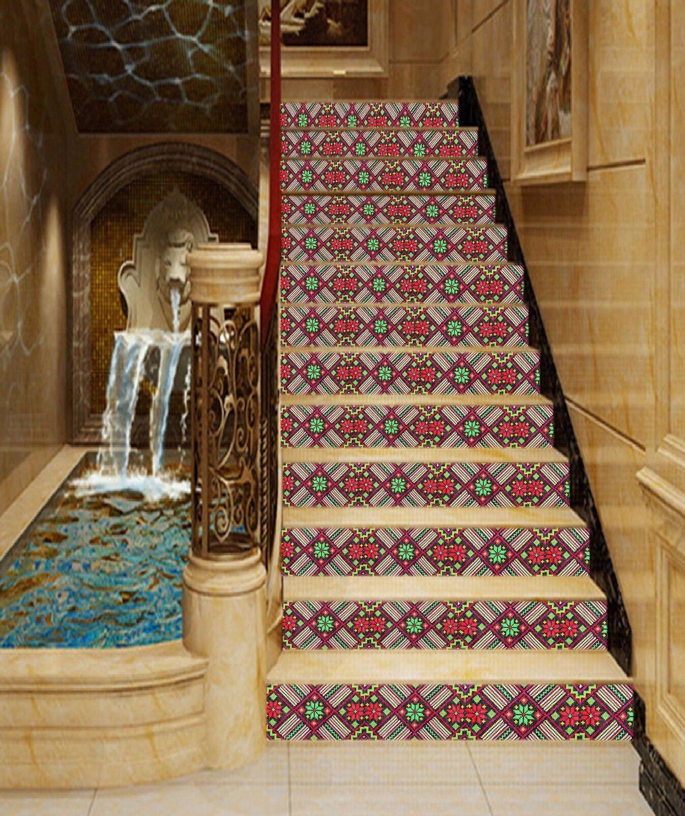 3D Flowers 522 Stair Riser Decoration Photo Mural Vinyl Decal Wallpaper UK Lemon