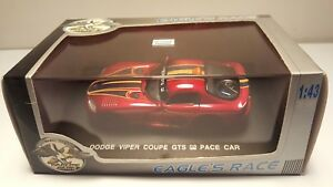 Universal-Hobbies-Eagle-039-s-Race-Dodge-Viper-Coupe-GTS-Red-1-43-Diecast-Pace-Car