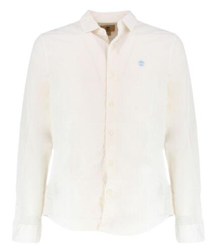 Timberland A1JMJ100BIANCO White slim fit shirt for men