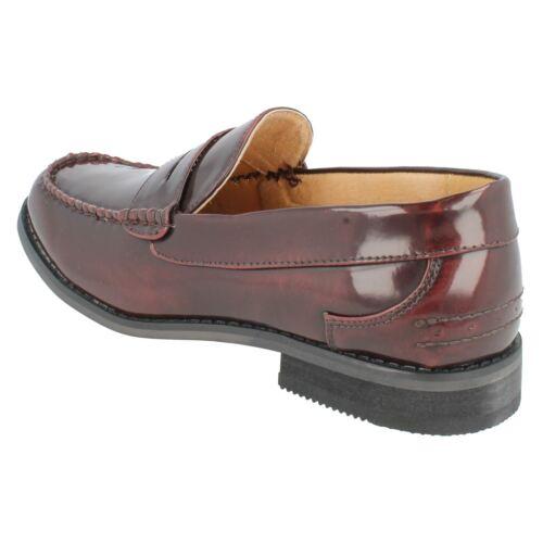 Homme A1118 Hi Shine Noir Ou Bourgogne Mocassins Chaussures par maverick £ 26,99