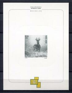 34130) Luxembourg 2008 MNH Christmas S/S Printing Test