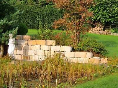 Herzhaft Mauersteine 20*20*40 Sandstein Beige/gelb Naturstein Mauern