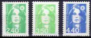 1993-FRANCE-TIMBRE-Y-amp-T-N-2820-a-2822-Neuf-SANS-CHARNIERE
