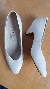 Damen Schuhe,Gr.4,weiß,Gabor,Leder