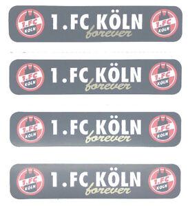 Details Zu 1 Fc Köln Forever Aufkleber 4er Set Sticker Logo Fussball 1256