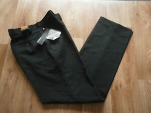 """New M/&S Collection Wool Blend Mens  Flat Front Navy Trousers 42/""""W 31/""""L Regular."""