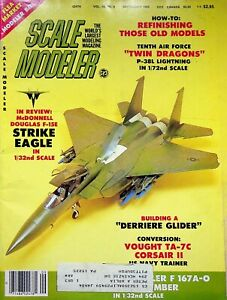 Vtg Scale Modeler Magazine September 1983 McDonnel Douglas F-15E  Eagle m89