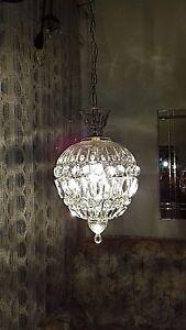 Lampadario Gocce Cristallo Anni 60.Lampadario Sfera Cristallo Anni 60 Crystal Sphere Chandeliers Ebay