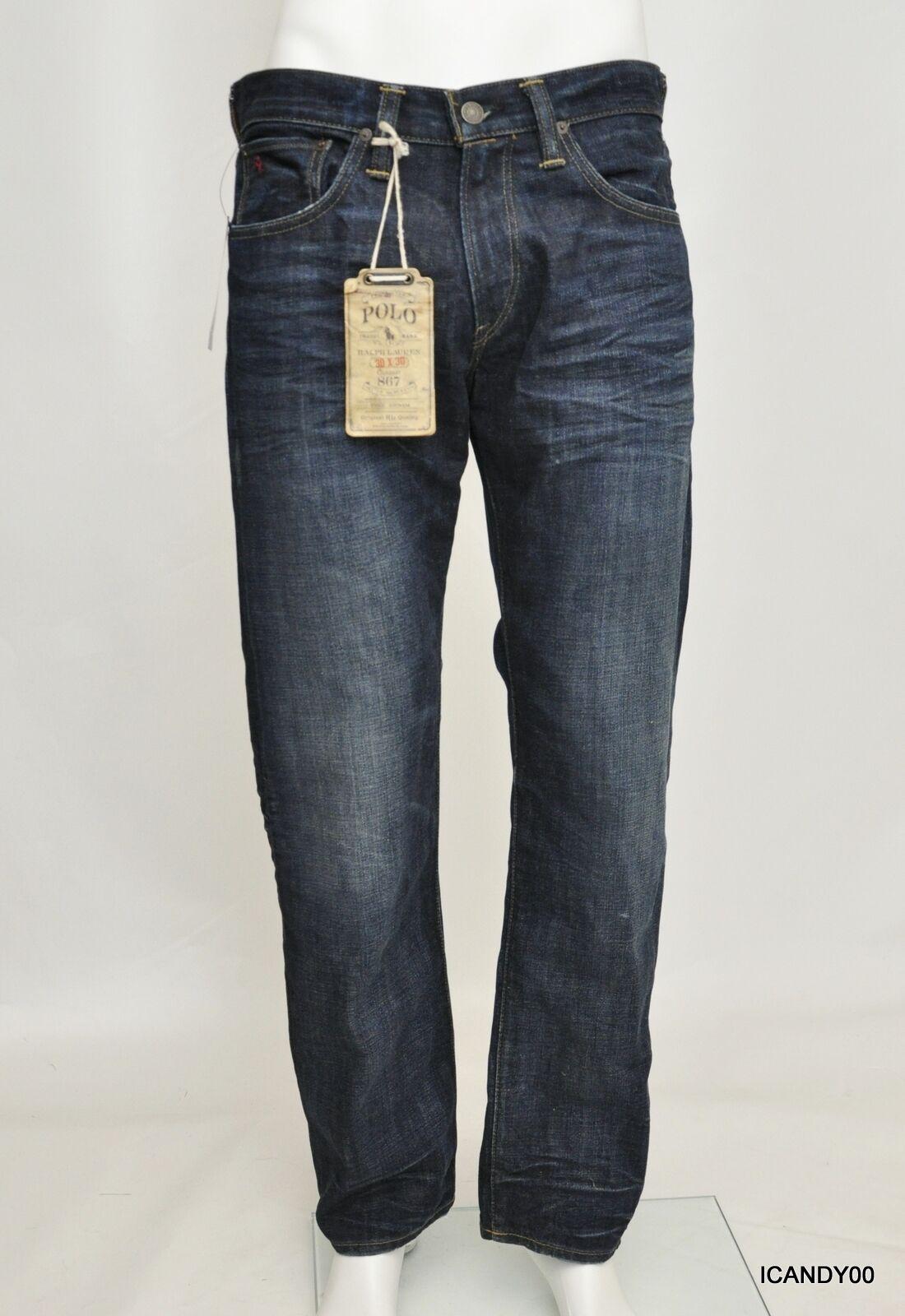 Nwt  Polo Ralph Lauren Classic-Fit Jeans 867 Pants Trouser Elliot Wash 30-30