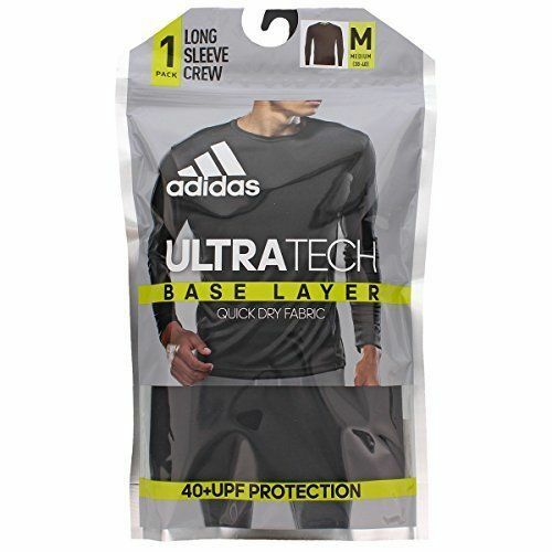 SALE NEW Adidas Men/'s Base Layer Climalite 40 UPF Long-Sleeve Crew Top