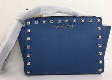 cc3f54b496da Michael Kors Steel Blue Selma Studded Medium Messenger 30t3ssmm2l ...