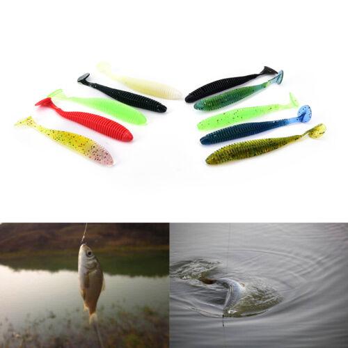 10X Lures Soft Baits Worms Fishing Lure Fishing Takcle Grub Artificials Lure Al
