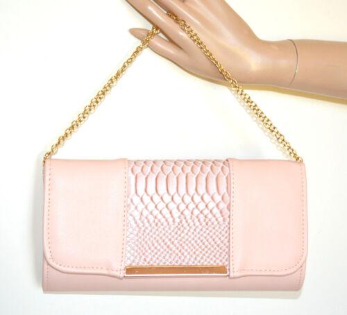 Zak Mujer Polvo Bolsa Bag Rosa Cadena G82 Cuero Oro Eco Pochette Bolso Elegante E1OpPWwqOx
