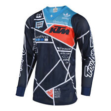 Troy Lee Designs Mens Offroad Motocross Streamline SE Air Jersey Medium, Navy//Orange