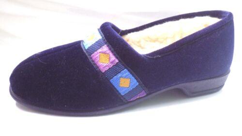 New Slip On Ladies Seller Best Navy Size 3 donnas Fur Ebay Slippers Full Luxury qxaIqrARwn