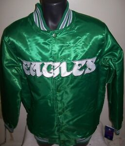 f9db06b7a7a Image is loading Philadelphia-EAGLES-Starter-THROWBACK-Snap-Down-Jacket -KELLY-