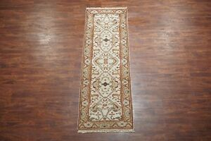 3X8-Oushak-Wool-Runner-Hand-Knotted-amp-Vegetable-Dyed-Area-Rug-Carpet-2-7-x-8