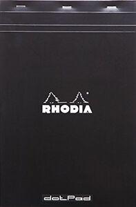 Rhodia 19559C Dot Grid Dotpad, A4 - Black