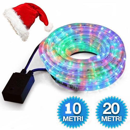 Tubo Brillante Luces de Navidad MultiColor Al Aire Libre RGB Vario Longitudes